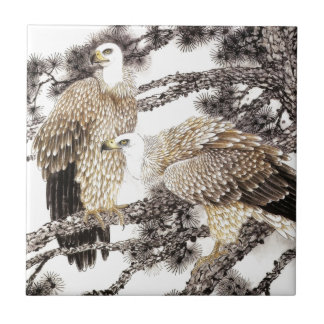 Classical Chinese style art, Birds in the trees Tile