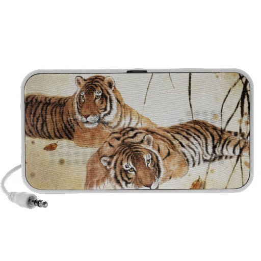 Classical Chinese style art, Reclining tigers iPhone Speaker