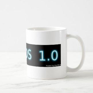 Classical coffee cup with large GAYOS Logo. Basic White Mug