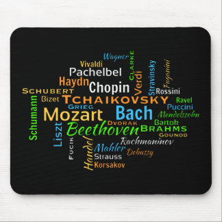 Classical Composers Word Cloud Mouse Mat