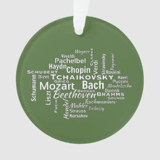 Classical Composers Word Cloud Ornament