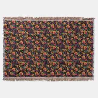 Classical Floral Throw Blanket