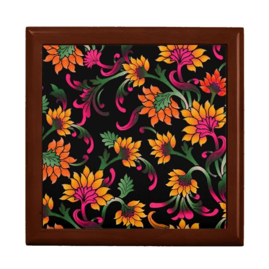 Classical Floral Wooden Keepsake Box