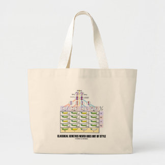 Classical Genetics Never Goes Out Of Style Jumbo Tote Bag