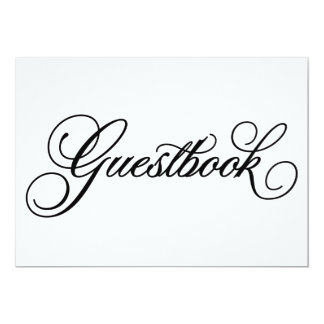Classical | Guestbook Wedding Sign 13 Cm X 18 Cm Invitation Card