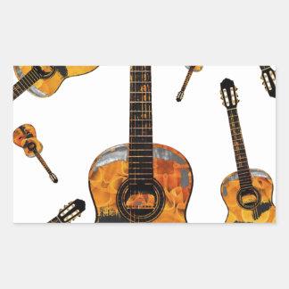 Classical guitar 08 jpg rectangular sticker