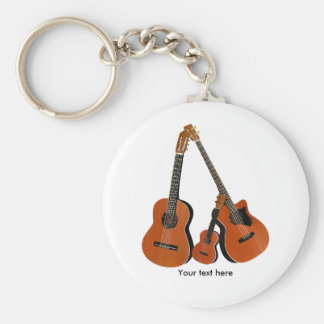 Classical Guitar Acoustic Bass and Ukulele Key Ring