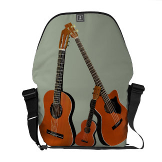 Classical Guitar Acoustic Bass and Ukulele Messenger Bag