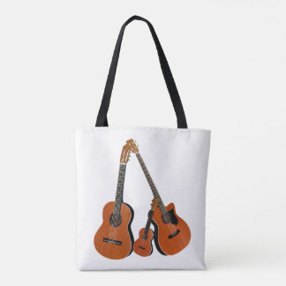 Classical Guitar Acoustic Bass and Ukulele Tote Bag