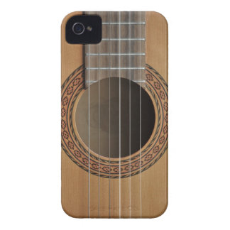 Classical guitar beige tan iPhone 4 Case-Mate case