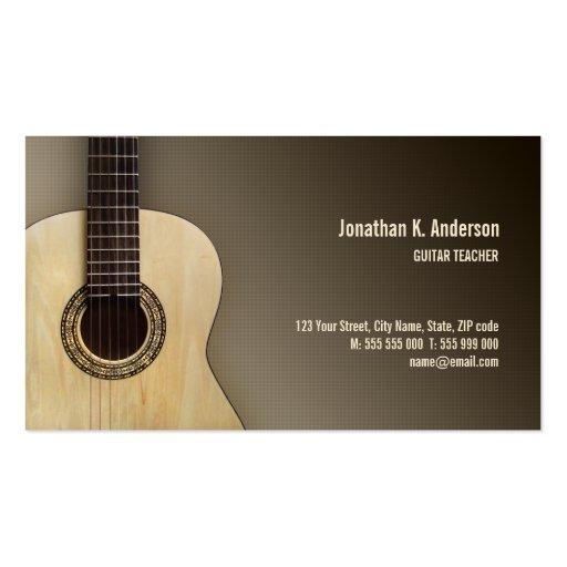 Classical Guitar business card
