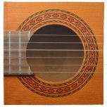Classical guitar orange tan napkin