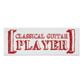 Classical Guitar Player Posters
