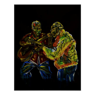 classical guitar players poster