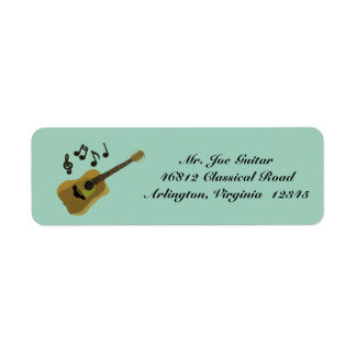 Classical Guitar Return Address Label