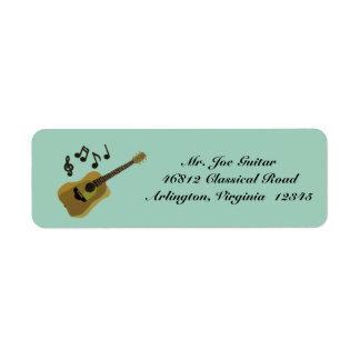 Classical Guitar Return Address Label