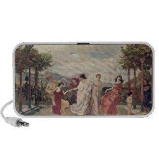 Classical Idyll (oil on canvas) Laptop Speaker