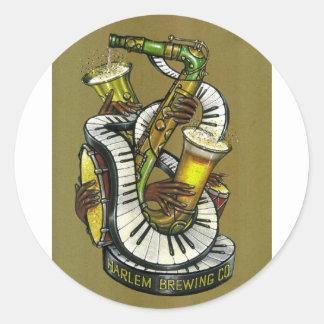 Classical Jazz Logo Round Sticker