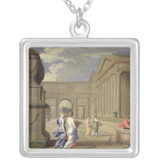 Classical Landscape Silver Plated Necklace