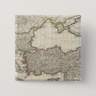 Classical Map of Rome 15 Cm Square Badge