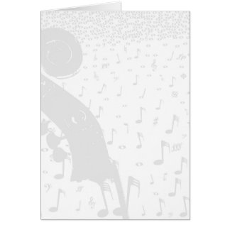 Classical Music Background Card