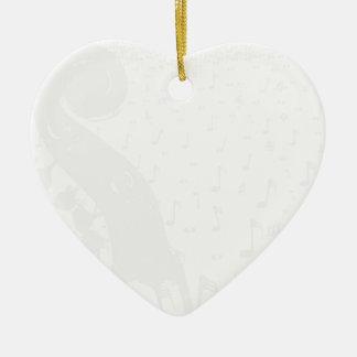 Classical Music Background Ceramic Heart Decoration