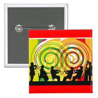 classical music illustration 15 cm square badge