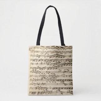 Classical Music Manuscript with clefs signatures Tote Bag