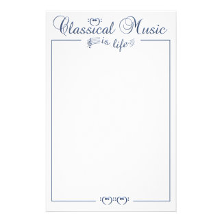 Classical Music stationary, customizable Customised Stationery