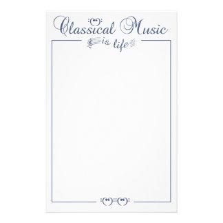 Classical Music stationary, customizable Stationery