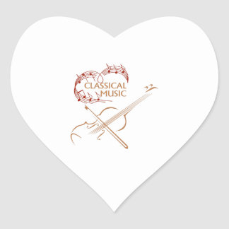 CLASSICAL MUSIC HEART STICKERS