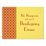 Classical Pattern Thanksgiving Dinner Invitation
