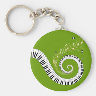 classical piano spiral key ring