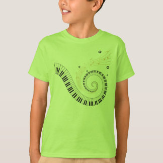 classical piano spiral tee shirt