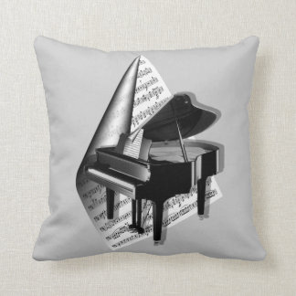 Classical Piano Throw Pillow