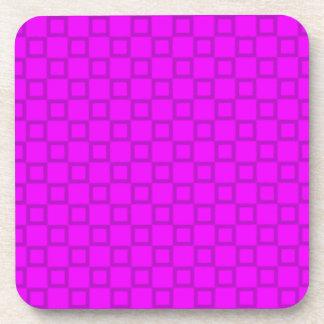 Classical pink purple Cork Coaster