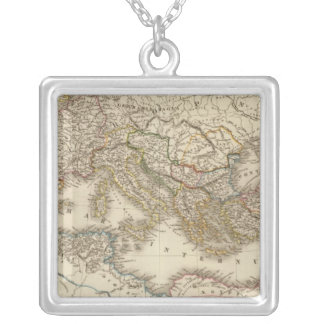 Classical Rome Eastern Hemisphere Silver Plated Necklace