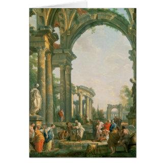 Classical ruins, 18th century card