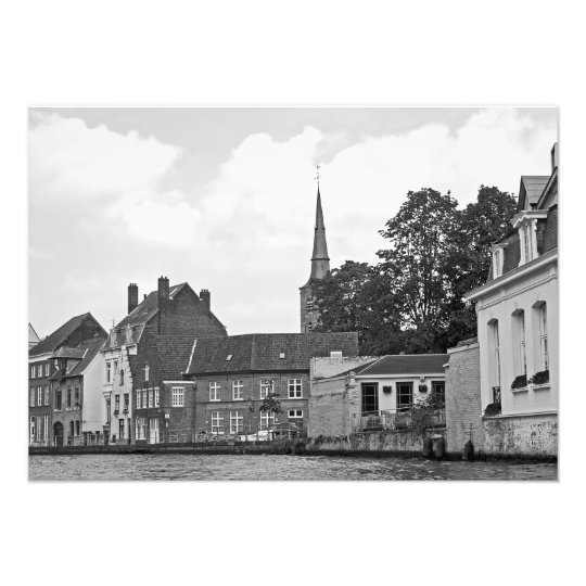 Classical view of Bruges Photo Print