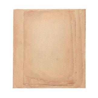 Classical Vintage Old Paper Looking Dark Brown Notepad
