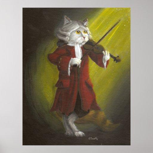Classical Violinist Cat print
