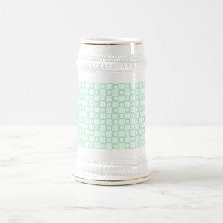 Classical white and mint green Stein Mug