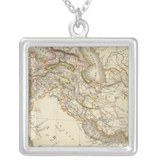 Classical World Eastern Hemisphere Map Silver Plated Necklace
