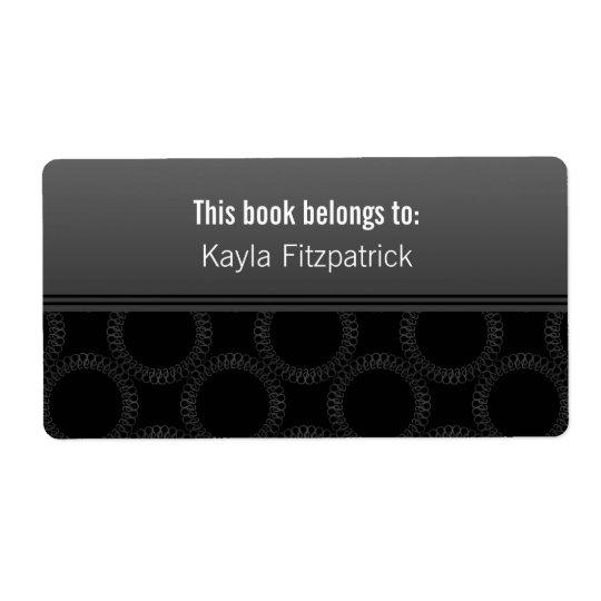 Classically Elegant Circles Bookplates Shipping Label