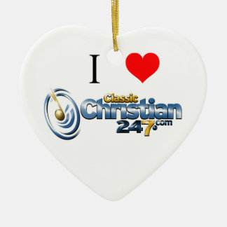 ClassicChristian247.com Heart Ornament