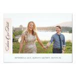Classicly Chic | Save the Date Photo Card 13 Cm X 18 Cm Invitation Card