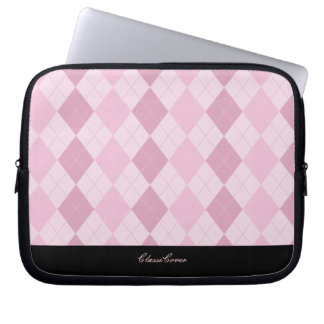 ClassiCover Argyle Pink Neoprene Device Sleeve