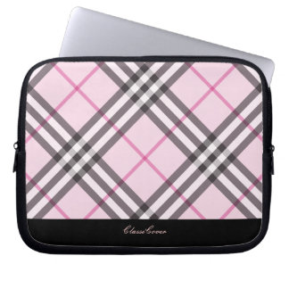 ClassiCover Pink Plaid Neoprene Device Sleeve