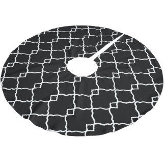 Classic's-Black-White-Geo-Diamonds Brushed Polyester Tree Skirt