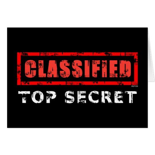 Classified Top Secret Card